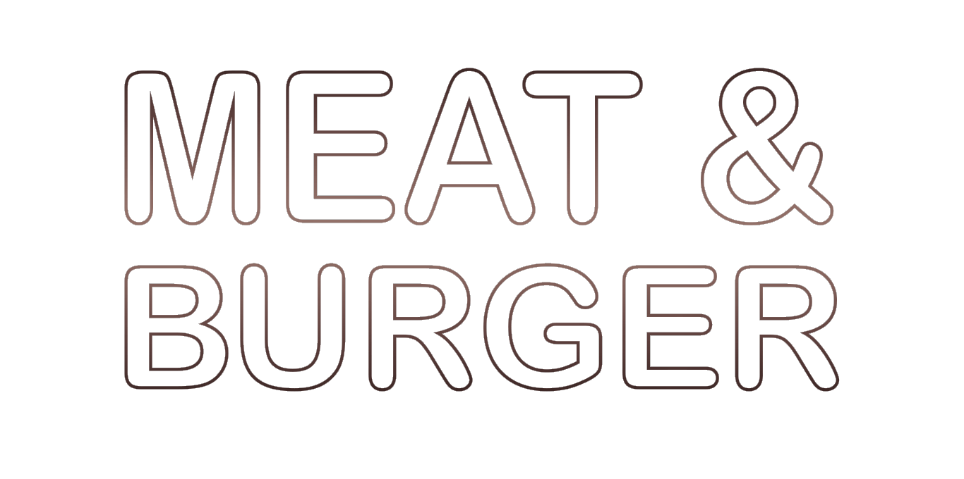 Meat&Burger logo, Meat&Burger логотип сірий